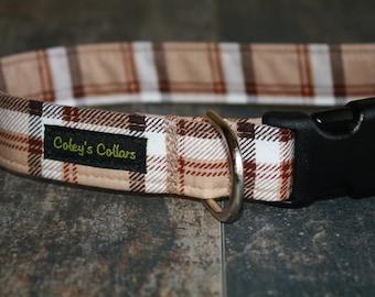 "Dog Collar Custom ""The Preppy Plaid"""