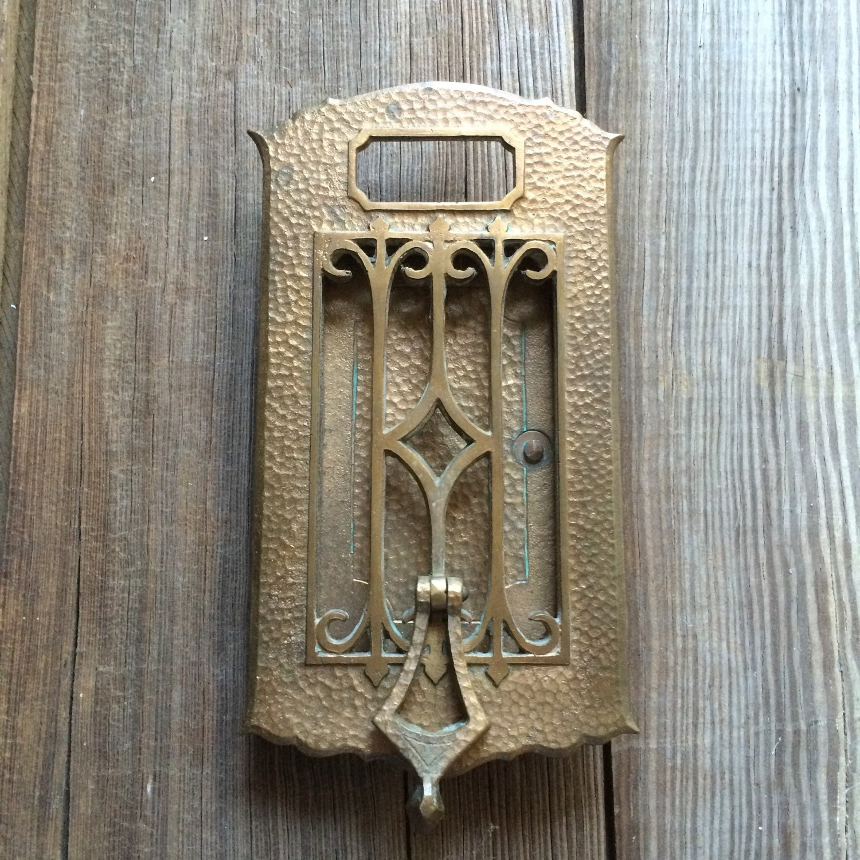 Vintage Brass Door Knocker Speakeasy Viewer Antique
