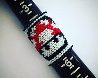Mario Mushroom Dreadlock Beads - Insprired by Old School Nintendo - Red One Up Mushroom