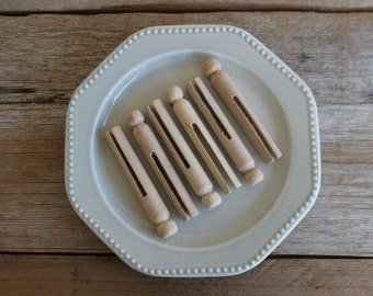 Wooden Clothespins, Set of 6
