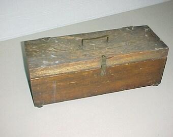 Vintage Wood Tool Box Storage Box