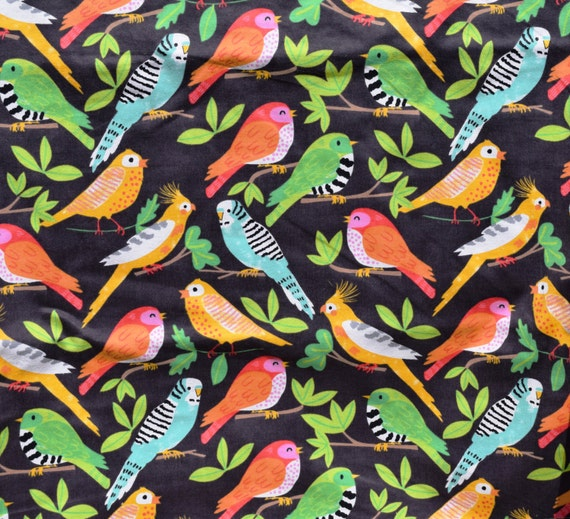 Lounge pants pajama dorm flannel made to order your choice size XS - 2X Tropical birds, canaries, parakeets print
