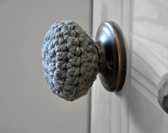 Child Safe Door Knob Cover Modern Design Toddler Protection Crocheted Home Decor Custom Colors