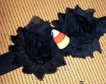 Black & Orange Candy Corn Halloween Headband