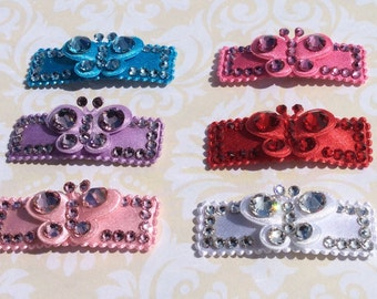 Swarovski Crystal Butterfly Clips, girls hair clips, children hair clips, babies hair clips