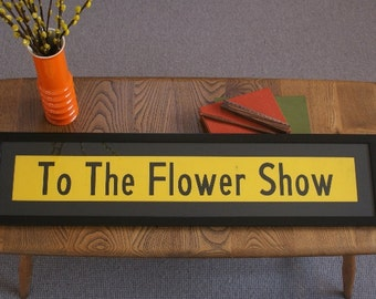 Vintage Bus Blind -'To The Flower Show""