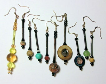 Planet Earrings in Stone, Glass, and Shell - Complete Planet Set - Solar System Jewelry by Chain of Being