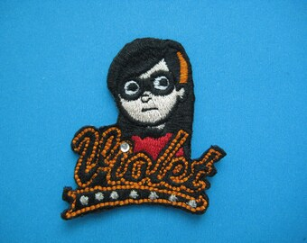 Iron-on embroidered Patch Violet Parr 2.25 inch