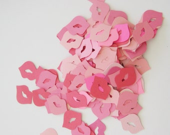 Pink Lips Table Scatter or Confetti