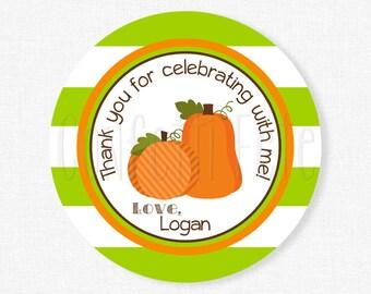 Pumpkin Tags, Pumpkin Party Favors, Gift Tags, Pumpkin Birthday, Pumpkin Favor Tags, Personalized