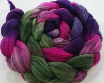 "Hand Dyed Merino/Tencel 4Oz. ""Steampunk Chessie"""
