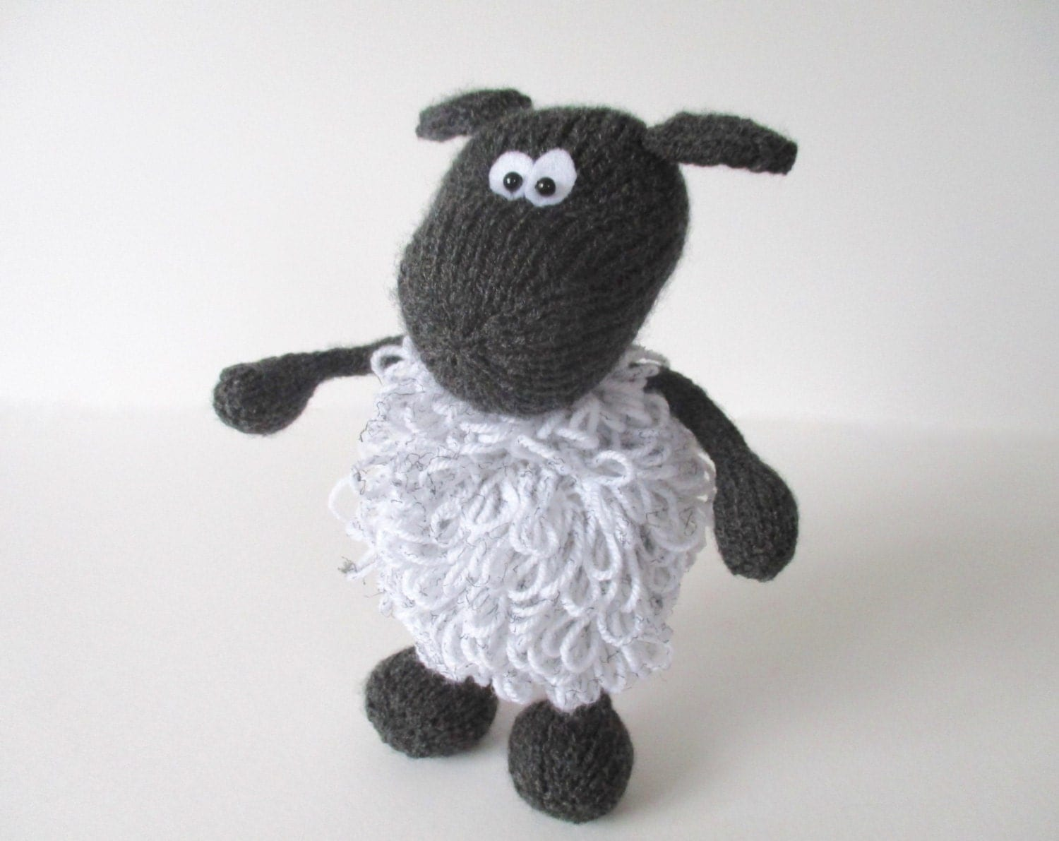Loopy Knitting Pattern : Loopy the Sheep toy knitting pattern by fluffandfuzz on Etsy