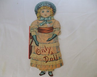 Only A Doll - Old Fashioned Style Dolly Book by Merrimack Publishing 1970's - Story by Helen Marion Burnshide - Vintage - Gifts