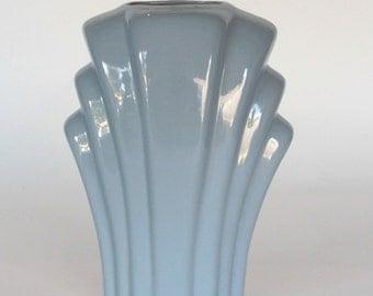 Beautiful Light Blue Art Deco Vase