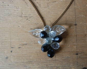 Vintage 1940s Haskell style crystal pendant ∙ briolette crystal pendant