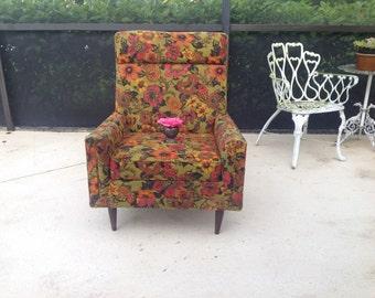 MID CENTURY MODERN Chair /Vintage Rowe Chair Retro Fabric Adriann Pearsall Style Chair / Retro Style at Retro Daisy Girl