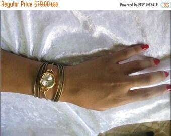 Leather Watch-Women wrist watch-Bracelet wrap Watch Leather Wrap Watch Bracelet Antique Watch- leather retro Watch- bracelet Cuff Watch