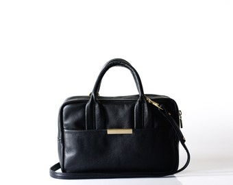 leather Doctors Bag OPELLE ISSA Duffle leather handbag