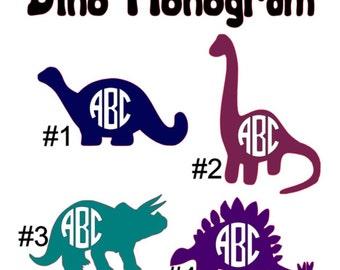 2-10 inch Dino Monogram