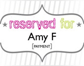 AmyF: Payment for Custom Fading Dots Monogram Wedding Invitations