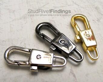 10pcs 31x11mm ZINC alloy push gate hook Swivel hook For Bag, Purse Strap