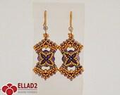 Tutorial Marja Earrings-Beading tutorials and Patterns by Ellad2