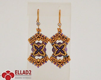 Tutorial Marja Earrings-Beading tutorials and Patterns by Ellad2