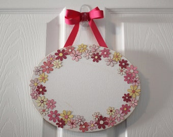 Girls Flower Name Plaque