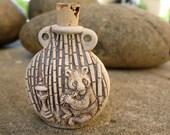 Panda high fired ceramic bottle bead - HFBOT