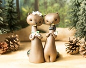 Beaver Wedding Cake Topper by Bonjour Poupette