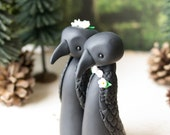 Crow Wedding Cake Topper by Bonjour Poupette