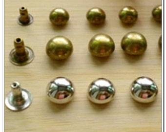 90 sets 8mm Dome Rivets purse making hardware,antique brass finish,bag hardware,handbag hardware