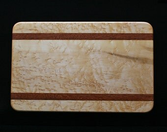 Serving Board - Birdseye Maple and Sucupira