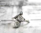 Diamond Slice Ring / Ring / Engagement Ring / Promise Ring / Accessories / Wedding Ring / Gift for Her / Holiday Gift / Gold
