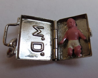 OBSTETRICS DOC BABY in a doctors Bag hand crafted Sterling Silver