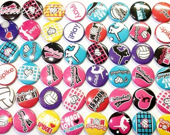 "Volleyball Buttons Volleyball 1"" Buttons SET 2"