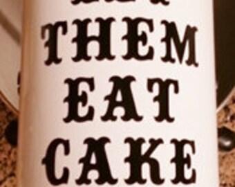 Kitchenaid Vinyl Decals - Vinyl Mixer  - Kitchenaid Decals - Let Them Eat Cake - Vinyl Decals