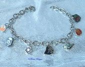 Last One! Star Wars Charm Bracelet Stainless Steel Bracelet and Charms Custom made by TorresDesigns - Ready To Ship