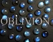 Round Labradorite 8mm Cabochon - Jewelry Supplies - Cabochon Settings - Designer Cabochon - Labradorite Earrings - KL005