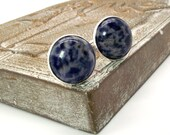 Blue Sodalite Cufflinks – 20mm Round – Blue Cufflinks - Sodalite Cufflinks