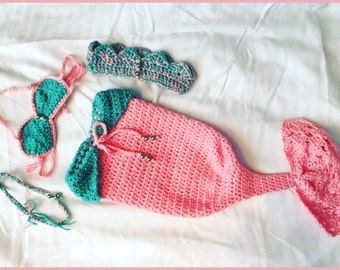 Mermaid Set-4 piece-One of A Kind