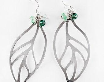 Fallen Leaf Sterling Silver Earrings