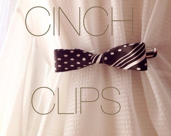 Brown Bow Tie Cinch Clip