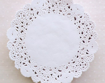 "Lace Doilies / Round Paper Doilie / Small Cake Doily (90mm / 3.5"") (250pcs / White) Scrapbook Gift Decoration Party Supplies Packaging S328"