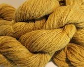 Hand Spun BFL Wool Yarn Worsted Weight Sandalwood Color