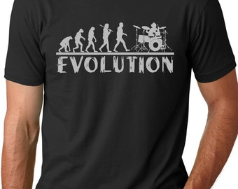 Drummer Evolution T-shirt Music Humor Drums Funny Tee