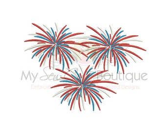 Fourth of July Embroidery Design - 6 Sizes -Instant Download