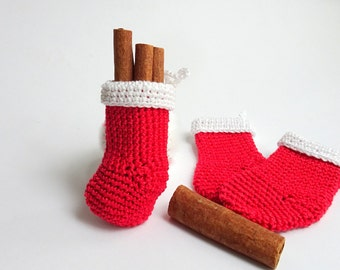 Decorative Christmas stockings - hanging Christmas stockings - crochet stocking - xmas stocking - stocking decorations - small stockings