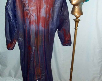 Horror Halloween Dr. Frankenstein Distressed Autopsy Gown with Cap and Reflector One of a Kind