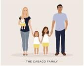 Custom Family portrait, personalized family art
